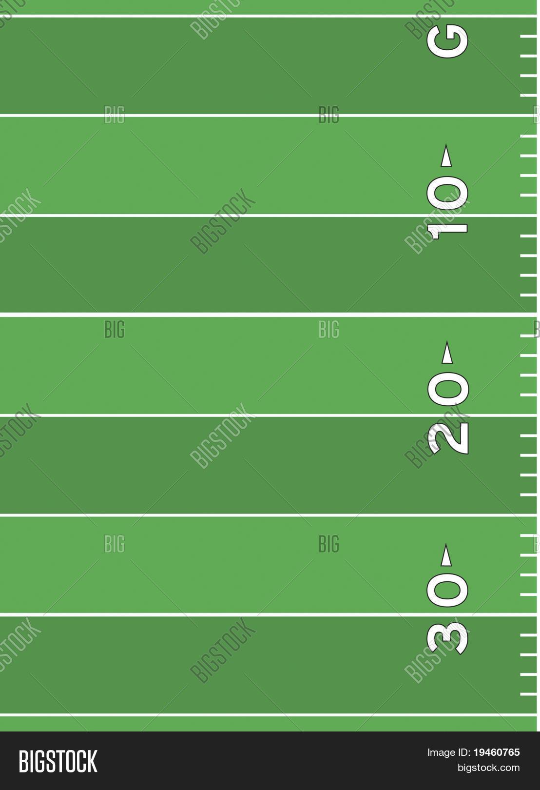 Football Field Markings Stock Vector Amp Stock Photos Bigstock