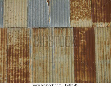 Backgroundrusty Corrugated Iron