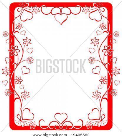 Valentine frame, vector illustration