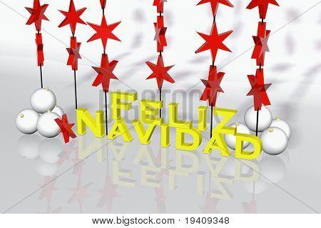 "Spanish christmas card - ""Feliz Navidad"" 3d rendering"