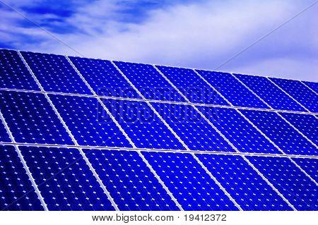 Solar energy: photovoltaic panel detail