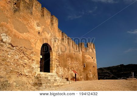 Typical Spanish castle in Biar (Alicante)