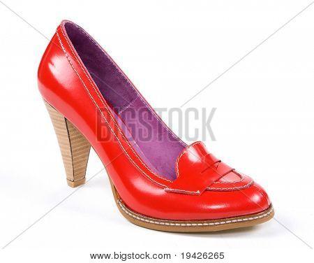 red women's shoe