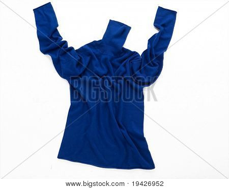 blue polo neck sweater free style