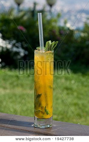 mango and passion fruit mojito