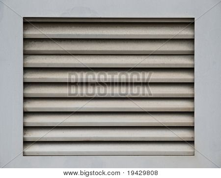 Air vent up close and perpendicular framing