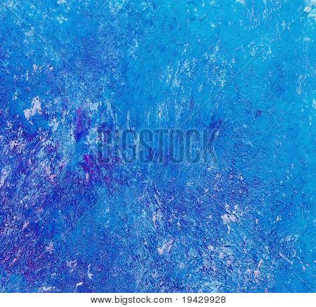 blue oil painting brush strokes, high magnification