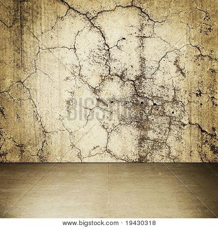 Grungy stone wall interior