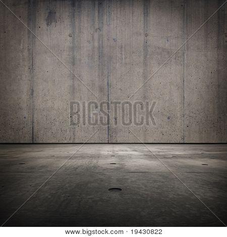 Textura del concreto de la habitación de Grunge