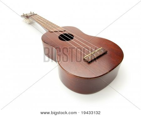 Ukulele isolated on white