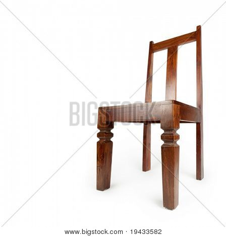 Rosewood chair , isolated on white. Also known as sheesham wood.