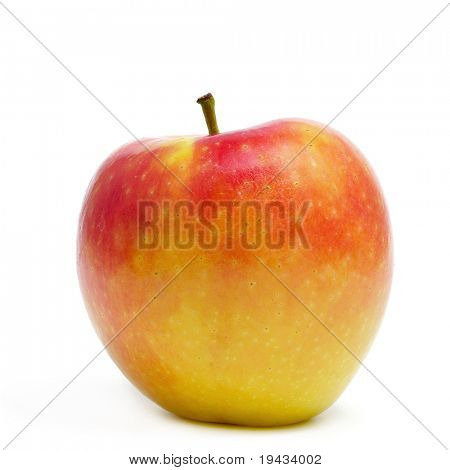 an apple isolated on a white background