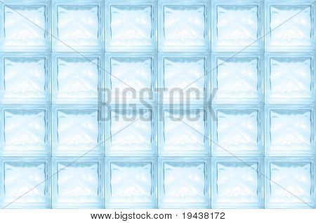 blue glass brick wall - seamless texture