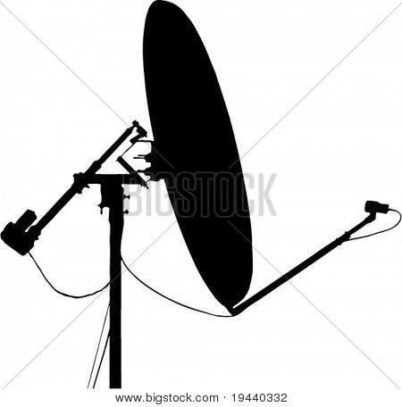 satellite communication dish - vector