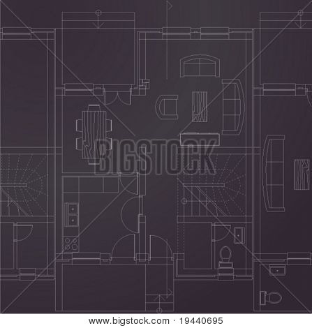 vector print of basic interior