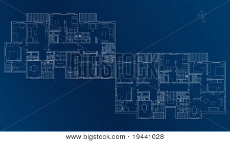 blueprint plan of building floor