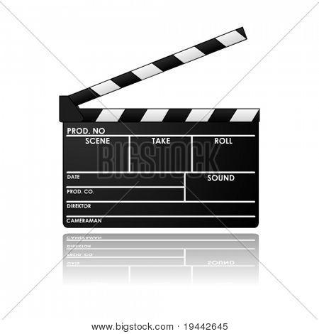 Clapboard in vector design
