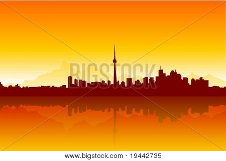 Sunny City Background Silhouette