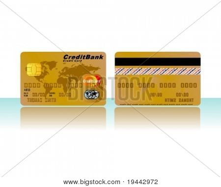 Credit Card in Gold (for other colors look in my portfolio)