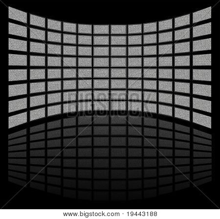 TV Screens with real TV noise on it