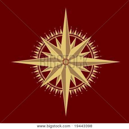 windrose compass in vector design
