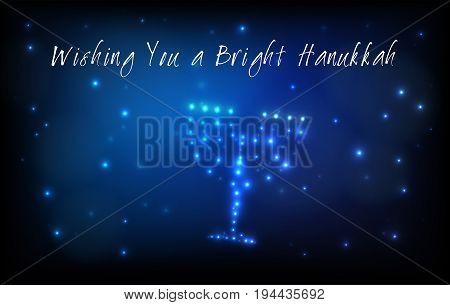 Jewish Holiday Hanukkah Greeting Card
