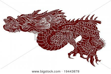Vector of Ancient Chinese Dragon