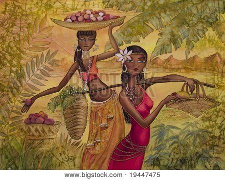 Exotischen Mädchen von Schönheit