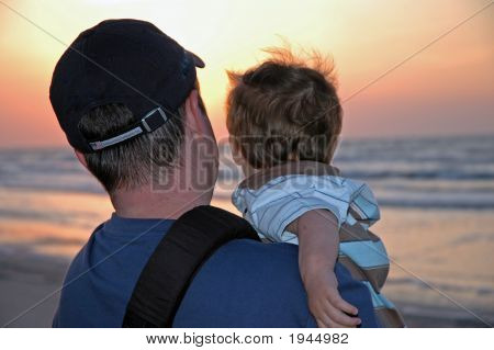 Father Son Sunrise