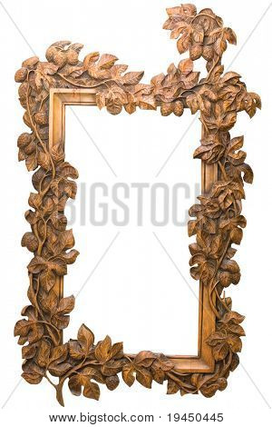 carved wooden frame with a sophisticated decor