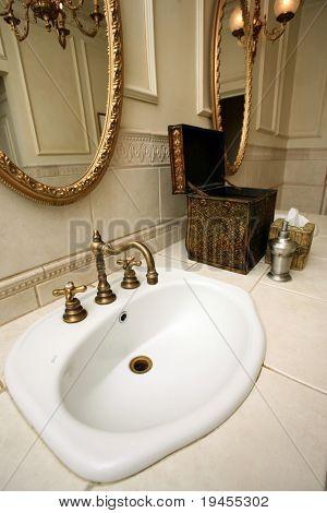 Vintage restroom