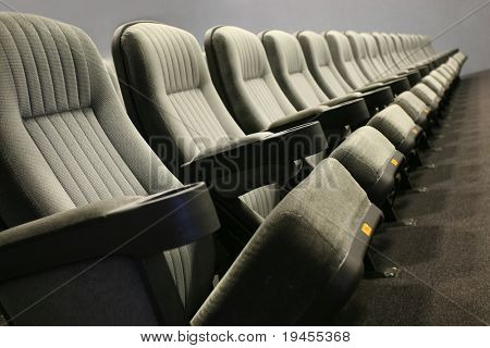 Empty seats in a row (cinema, theatre, conference, concert)