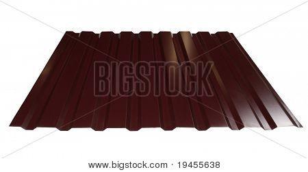 Azulejo del metal marrón aislado en blanco