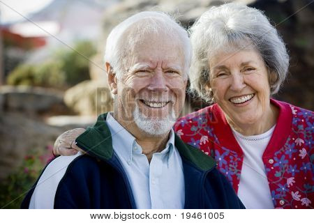 Senior Couple Smiling
