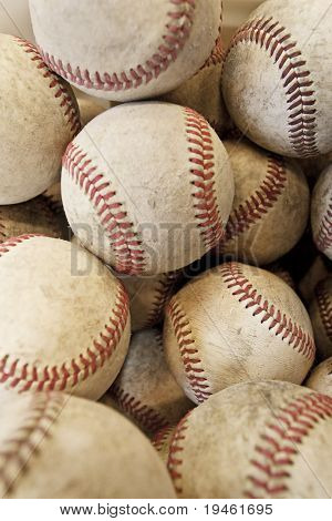 Lots and lots of baseballs background