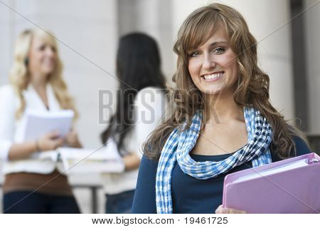 An attractive female college student portrait