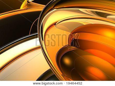 Abstract Orange Spheres 01