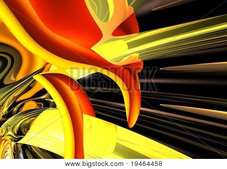 Abstract Red&Gold  Backround 01