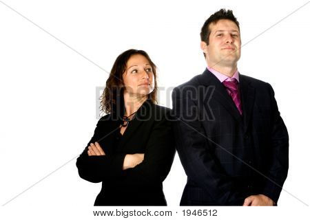 Jealousy In The Office With Businesswoman And Man