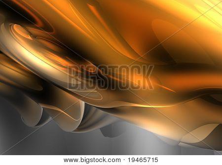 orange fog (abstract)