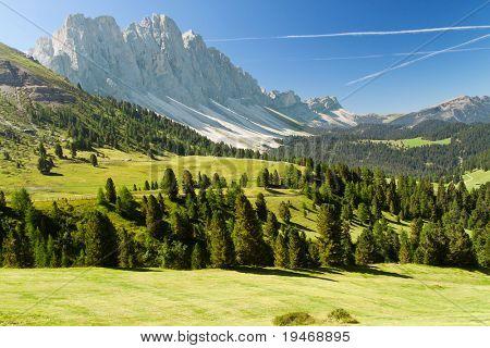Beautiful dolomites alps landscape
