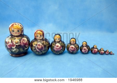 Group Of Nested Dolls