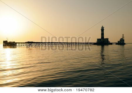 Daedalus lighthouse at sunset