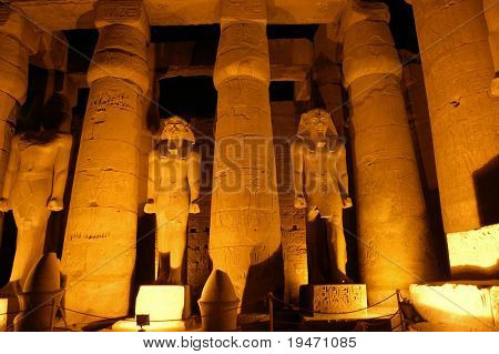 Temple of Luksor, ancient Egypt
