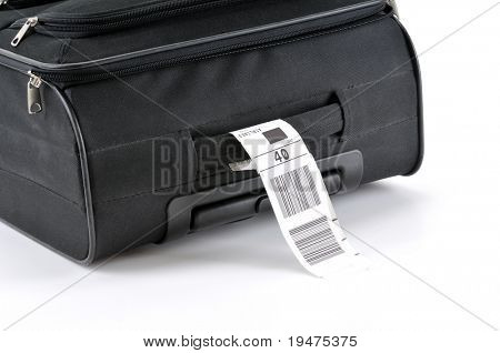 Travel bag isolated on white background.