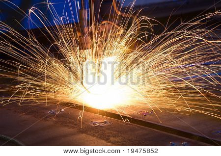 Cutting metal with CNC laser - a series of METAL INDUSTRY images.