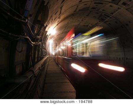 Speeding Subway Train