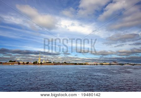 Neva river and Peter and Paul Fortress, St. Petersburg, Russia