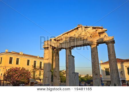 Ruins in Plaka area, Athens, Greece