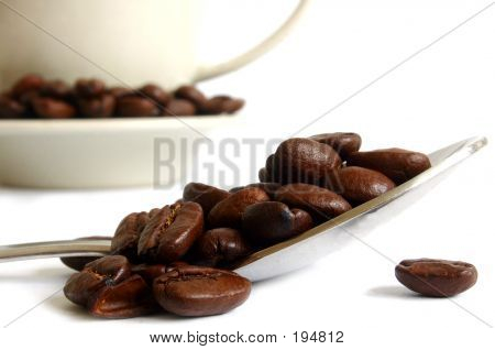 Coffee Spoon And Beans